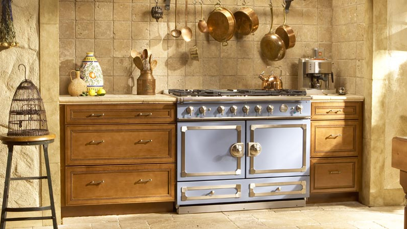 La Cornue CornuFe in Light Country Blue at Avenue Appliance in Edmonton